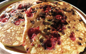 Chocolate Raspberry Pancakes, The Blue Benn