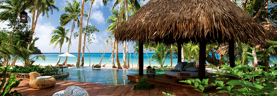 Laucala Island Resort, on the beach holidays
